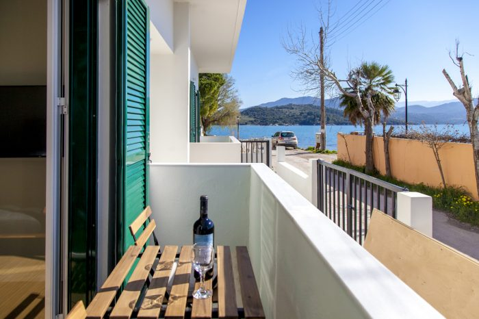 ligia-bay-apartments-lefkada-greece-ground-floor-apartment-one-private-balcony-view-next-to-the-sea-couples-wine-cozy